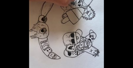 How To Draw Marshmello With Doodles - Time lapse - Tutorials