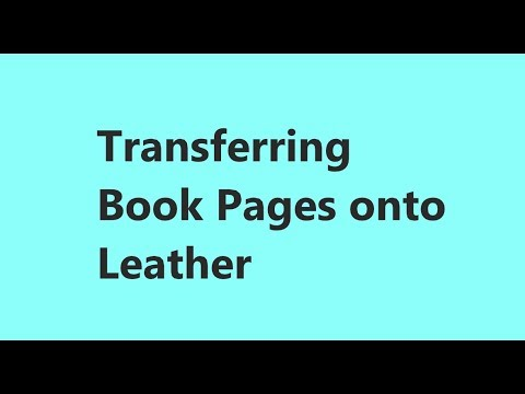 Transferring Book Text Onto Leather pt 1 #mixedmediaart #mixedmediaarttutorials #tutorials