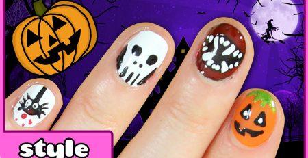 Halloween Nail Art Ideas | Five Cute & Easy Halloween Nail Tutorials! DIY