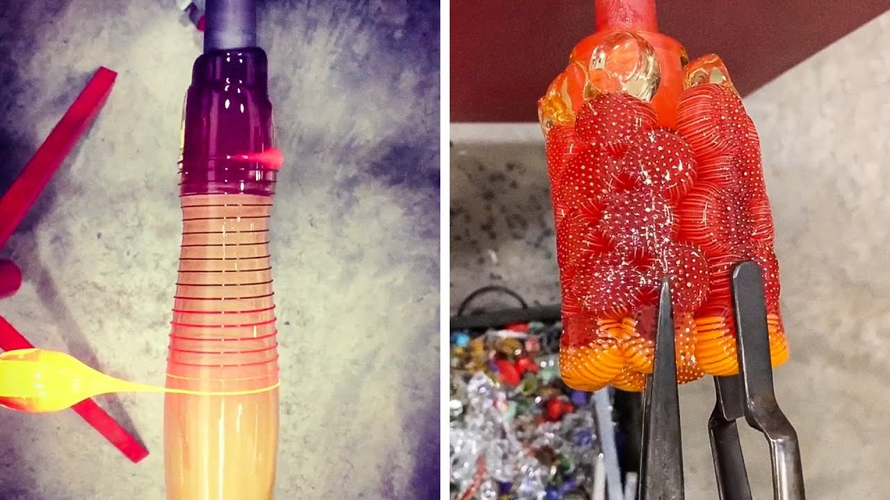 THE MOST SATISFYING GLASS BLOWING YOU'VE EVER SEEN
