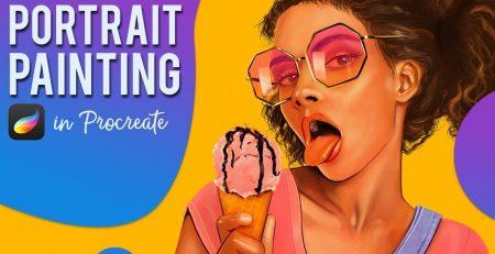 PROCREATE Portrait Painting - Making sweet ice cream art on an iPad Pro