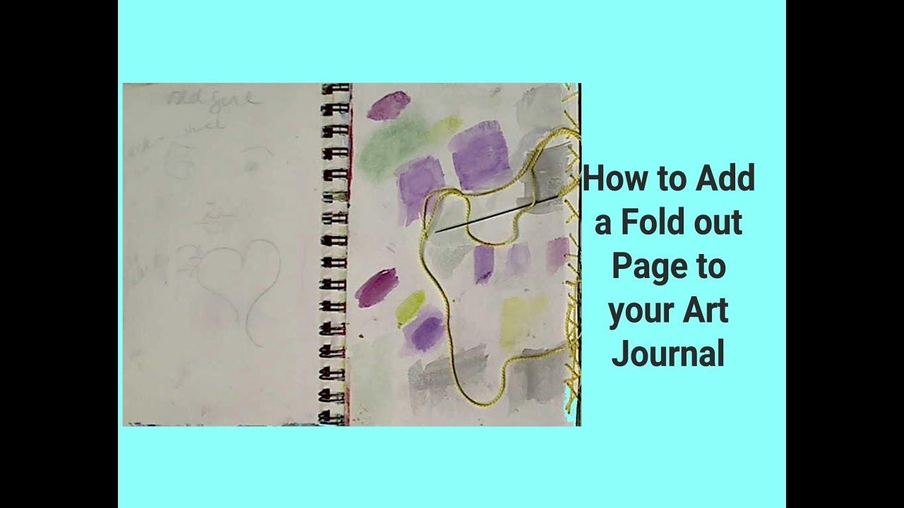 How to Add A Fold Out Page to Art Journal  #mixedmediaarttutorials #tutorials
