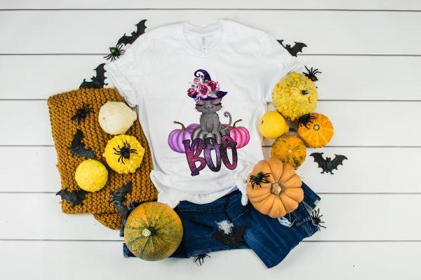 Halloween Boo Kitten T-Shirt