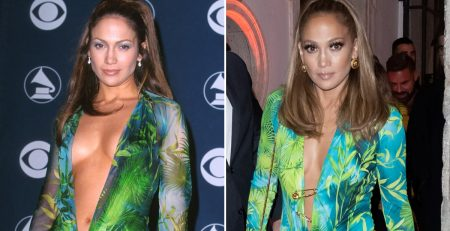 J Lo Channeled Her 2000s Grammys Look in a Versace Minidress, and the Nostalgia Overfloweth