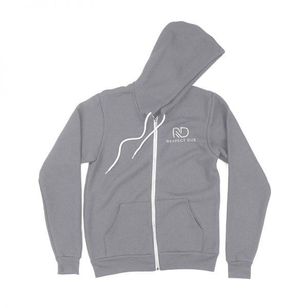 RD Unisex Sponge Fleece Full Zip Hooded Sweatshirt Athletic Heather