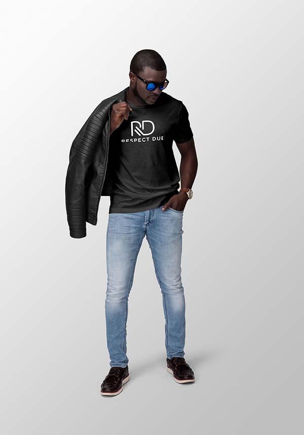 Respect Due Black Crew Neck Model