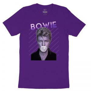 Bowie Bubble T Shirt Purple2