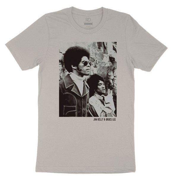 Jim Kelly Bruce Lee Vintage White T shirt