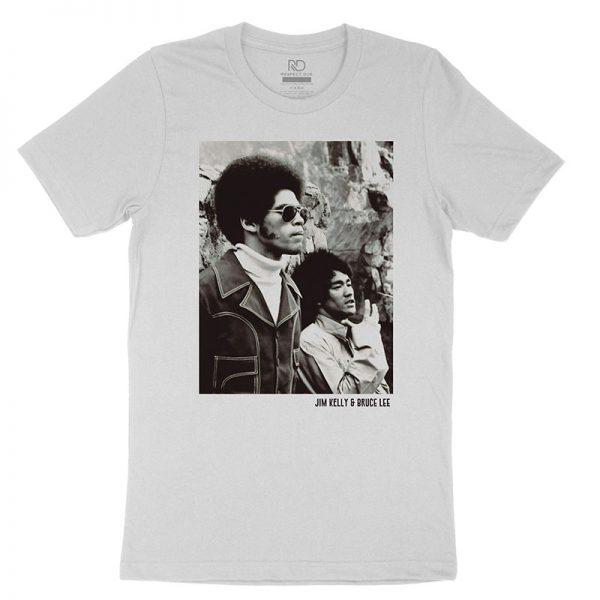 Jim Kelly Bruce Lee White T shirt