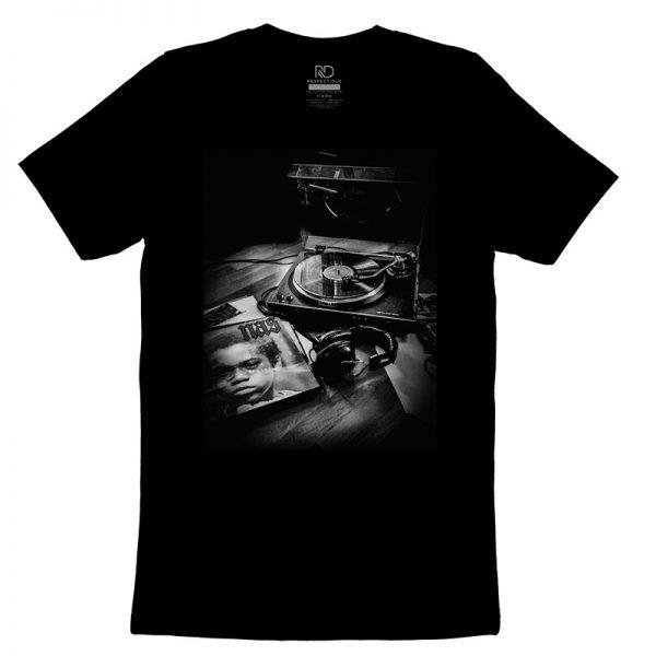 Nas Record Player T shirt Black2