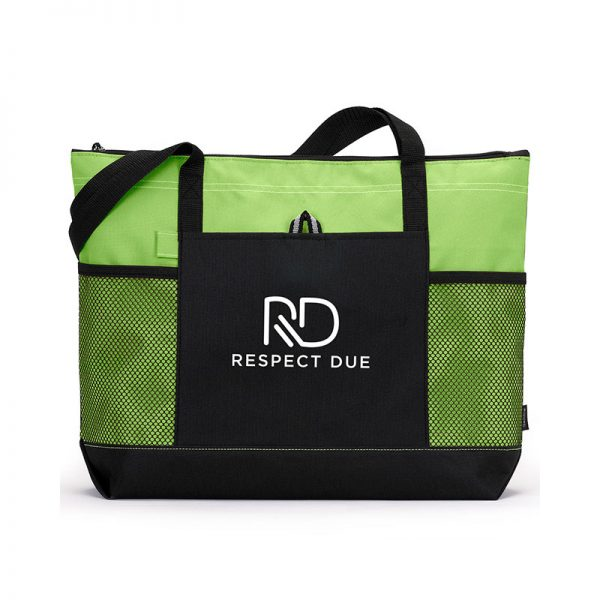 RD Select Zippered Tote Apple Green