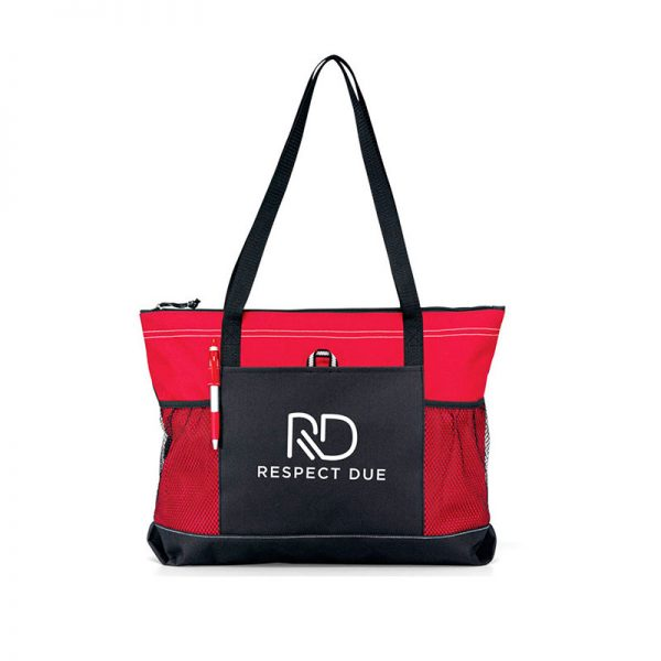RD Select Zippered Tote Red