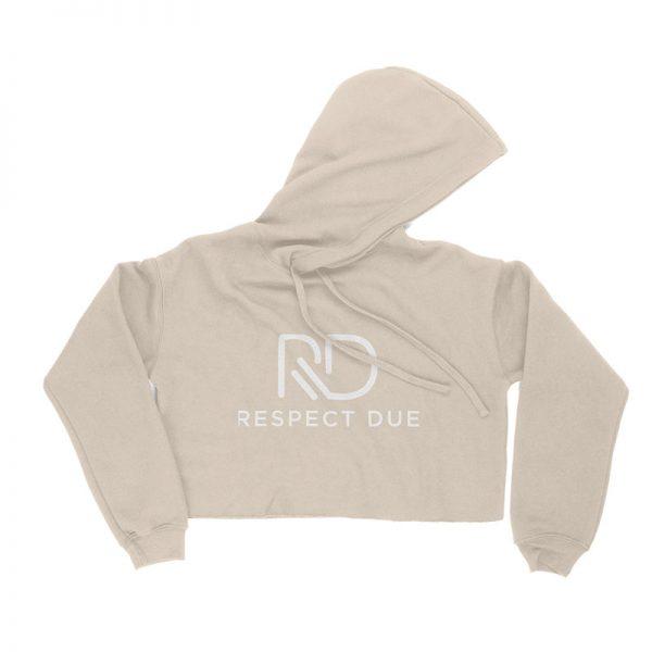 RD Ladies Cropped Fleece Hoodie HEATHER DUST
