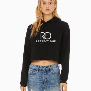 RD Ladies Cropped Fleece Hoodie Model