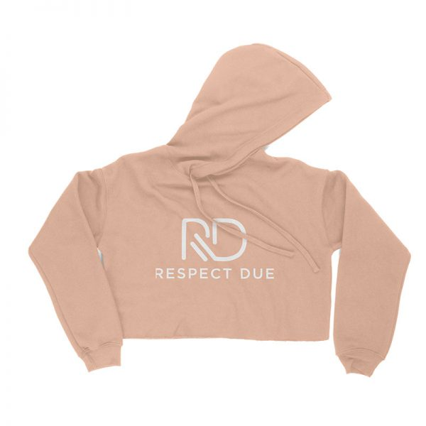 RD Ladies Cropped Fleece Hoodie PEACH