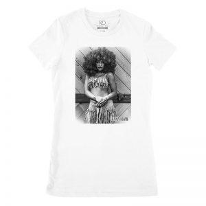 Chaka Khan White T shirt Womans