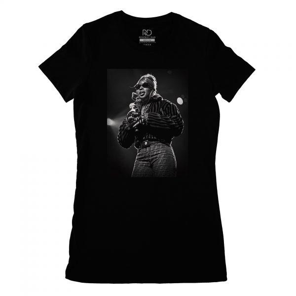Mary J Blige Black T shirt Womans