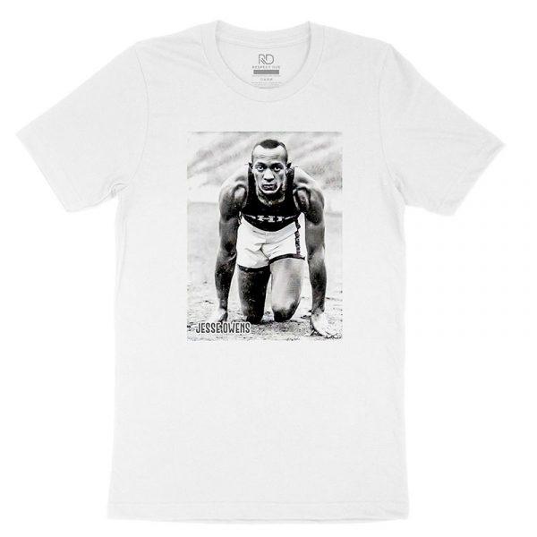 Jesse Owens White T shirt 1