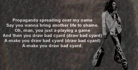 Bob Marley Bad Card wLyrics