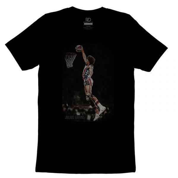 Julius Erving Black T shirt
