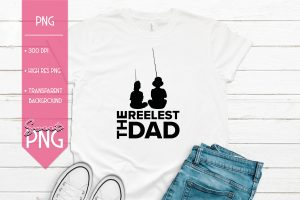 The Reelest Dad Sublimation PNG Design Mockup2