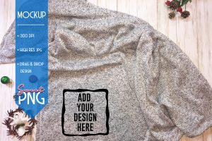 Gray Fleece Blanket Mockup 1