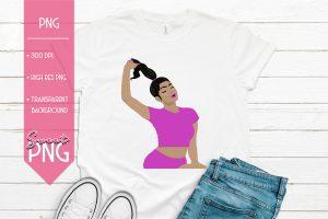 Ponytail Girl Pink Trio Light 1500