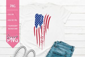 Americas Nurse Red White Blue Mockup 1500