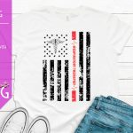 Americas Respiratory Therapist Black and Red Flag Mockup 1500
