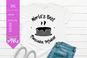 Worlds Best Pancake Maker Mockup SVG 1500