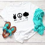 Peace Love Mask SVG