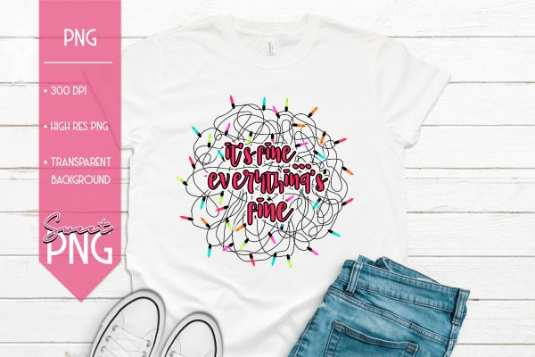 Everythings Fine Pink Mockup
