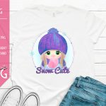 Snow Cute Girl Mockup
