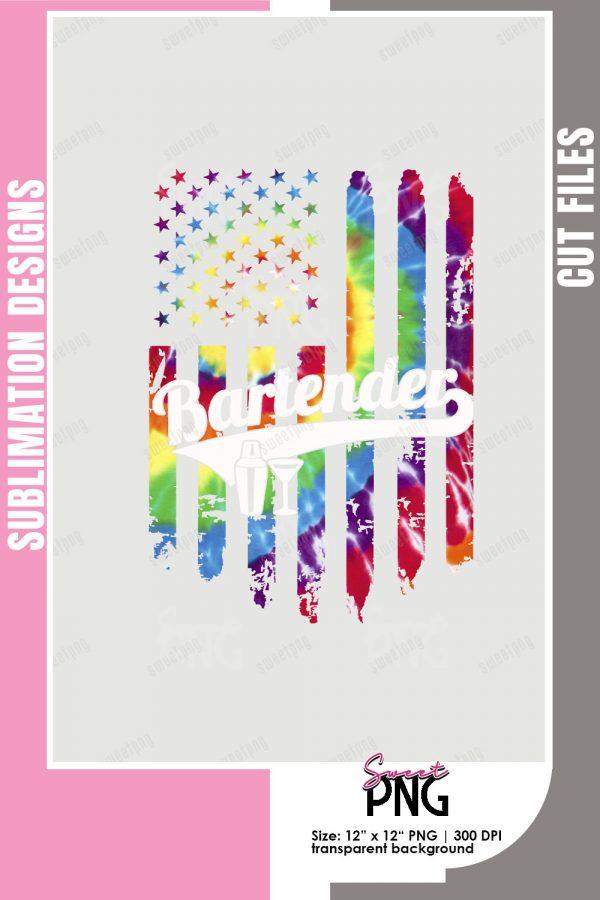 Americas Bartender Tie Dye Flag Pinterest
