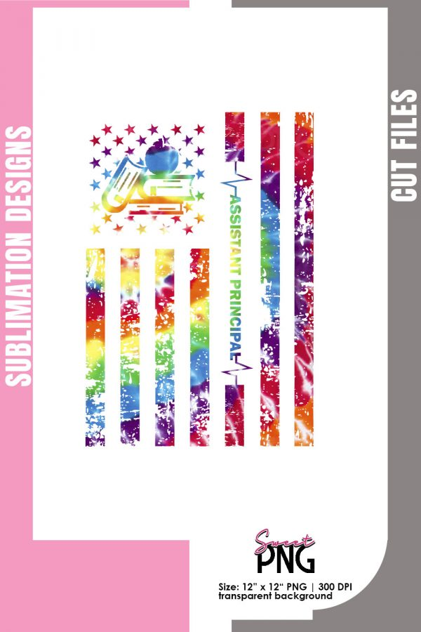 Heartbeat of America Tie Dye Flag Assistant Principal