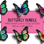 Butterfly Sumblimation Bundle Mockup