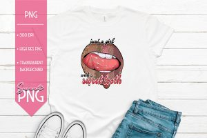 Just A Girl With A Sweet Tooth Mockup