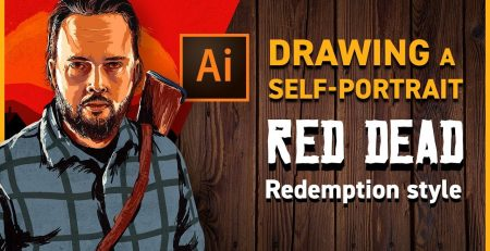 How to Draw a Self-Portrait in Illustrator - Red Dead Redemption style