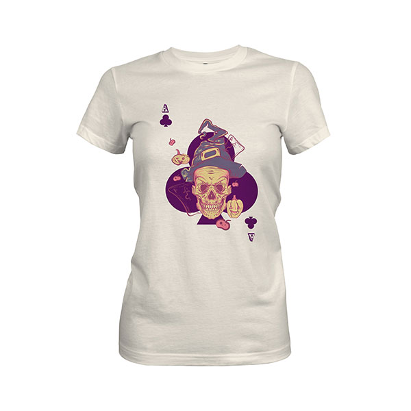 Ace of Clubs T shirt ivory
