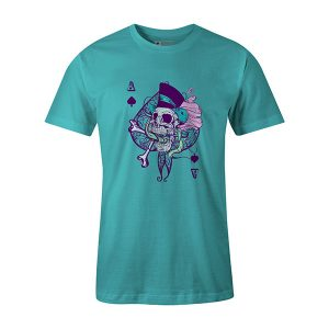 Ace of Spades T shirt aqua