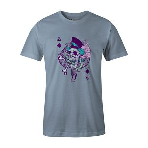 Ace of Spades T shirt baby blue
