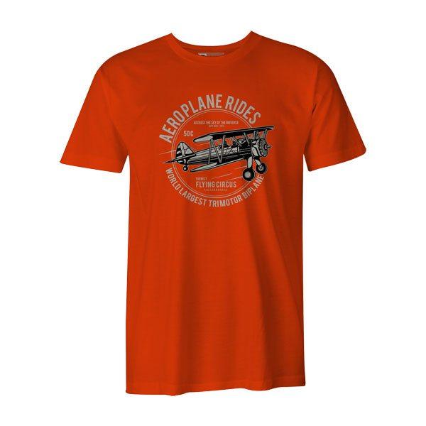 Aeroplane Rides T Shirt Orange