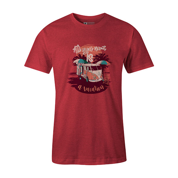 All You Need Is A Vacation T shirt heather red