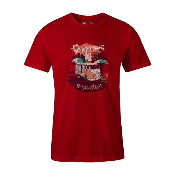 All You Need Is A Vacation T shirt red
