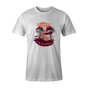 All You Need Is A Vacation T shirt white