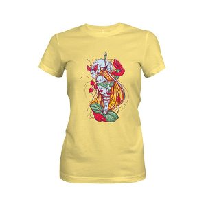 Amanita T shirt banana cream