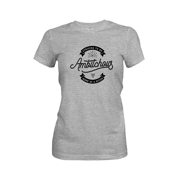 Ambitchous T shirt heather grey