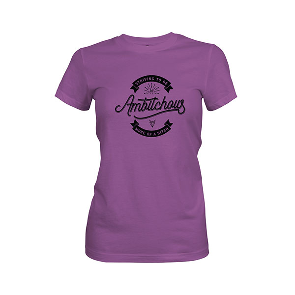Ambitchous T shirt purple berry