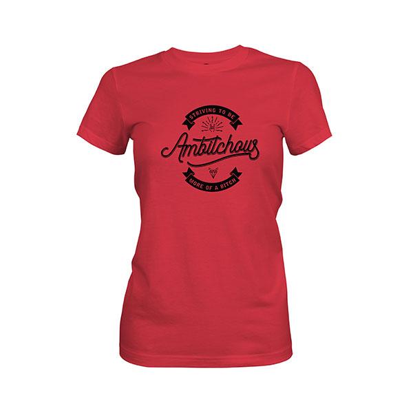 Ambitchous T shirt scarlet