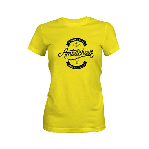 Ambitchous T shirt vibrant yellow